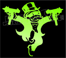 Monopoly Uzhi Tophat Guy Decal Sticker