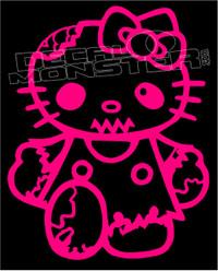 Zombie Kitty Decal Sticker