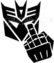 Transformers Middle Finger 2 Decal Sticker