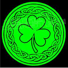 Keltic Clover 7 Decal Sticker