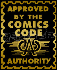 Comics Code Authority Approved Decal Sticker