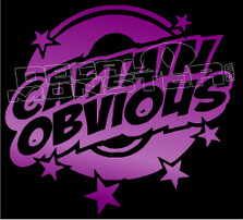 Captain Obvious Funny Decal Sticker