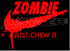 Zombie Nike Just Chew It Decal Sticker