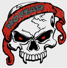 No Fear Skull 16 Decal Sticker