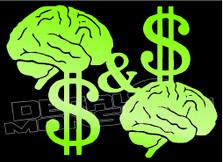 Mind on My Money & My Money on My Mind Decal Sticker