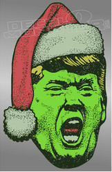 Trump The Grinch That Stole Christmas Decal Sticker