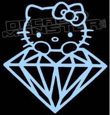 Hello Kitty Diamond Supply co Decal Sticker