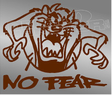 Tasmanian Devil Taz No Fear 12 Decal Sticker