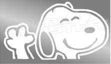Snoopy Wave Silhouette 1 Decal Sticker