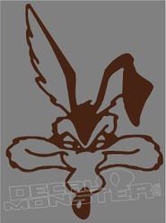 Wile e Coyote Head Silhouette 1 Decal Sticker