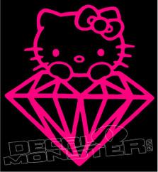 Hello Kitty Diamond Supply co Extra Decal Sticker