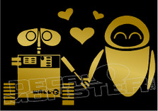 WALL-E & EVE Silhouette 1 Decal Sticker