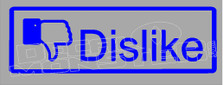 Facebook Dislike Decal Sticker