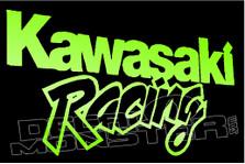Kawasaki Racing Motorcycle Decal Sticker