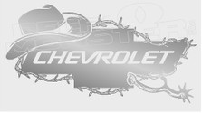Chevrolet Cowboy Barb Wire Spurs Edition 2 Decal Sticker