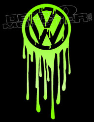 Volkswagen Logo Dripping Fresh Decal Sticker