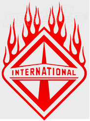 International Trucks Logo Flames 1 Decal Sticker