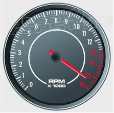 RPM Tach Gauge Red Line Decal Sticker