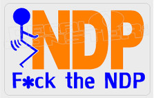 NDP Fuck The NDP Clean Decal Sticker