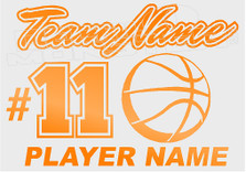 Basketball Teams Name Basketball Players Name Custom Decal Sticker