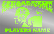 Football Schools Name Football Players Name Custom Decal Sticker