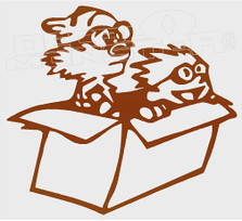 Calvin and Hobbes Boxspeed Silhouette 12 Decal Sticker