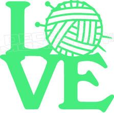 Love Knitting 3 Decal Sticker
