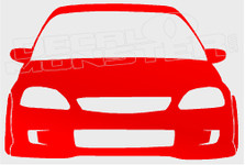 New Honda Civic Silhouette JDM Decal Sticker