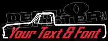 Custom YOUR TEXT Chevrolet C10 Long Bed 1967-1972 Pickup Decal Sticker