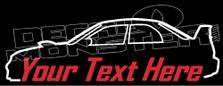 Custom YOUR TEXT Subaru Impreza Wrx STi (GD) JDM Decal Sticker