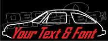 Custom YOUR TEXT AMC Pacer (1975-1980) Classic Decal Sticker