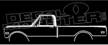 Chevrolet C10 Short Bed 1967-1972 Classic Truck Decal Sticker