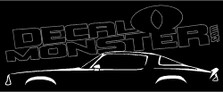 Chevrolet Camaro 1975-1981 (2nd Gen) Classic Decal Sticker
