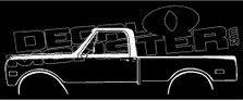 Chevrolet C10 Long Bed 1967-1972 Classic Truck Decal Sticker