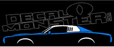 Dodge Charger SE 3rd Gen1973-1974 Classic Mopar Decal Sticker