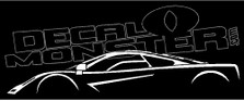 Mclaren F1 Supercar Decal Sticker