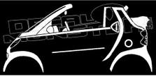 Smart Fortwo Cabrio Convertible W450 Decal Sticker