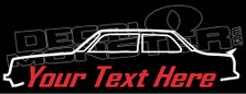 Custom YOUR TEXT Volvo 240 Turbo 2-Door Sedan Decal Sticker