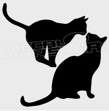 Cat Pets Silhouette 2 Decal Sticker