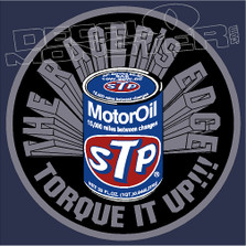 The Racers Edge STP Motor Oil Decal Sticker