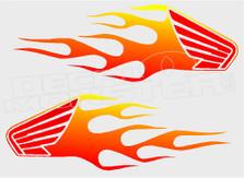 Honda Flames 11 Decal Sticker