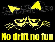 No Drift No Fun JDM Kitty Decal Sticker