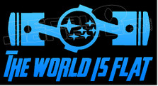 Subaru The World Is Flat JDM Decal Sticker