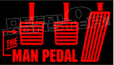 The Man Pedal Decal Sticker