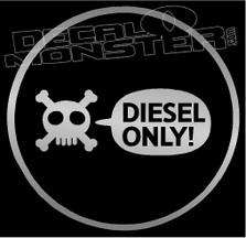 Gas Cap Diesel ONLY Decal Sticker
