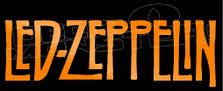 Led Zeppelin Band Silhouette 1 Decal Sticker