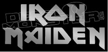 Iron Maiden Band Silhouette 1 Decal Sticker