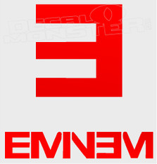 Eminem Rap Band Silhouette 1 Decal Sticker