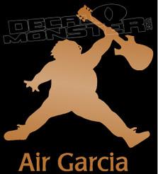 Air Garcia Guitar Silhouette 1 Decal Sticker