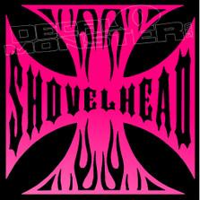 Shovelhead Iron Cross Motorcycle Decal Sticker